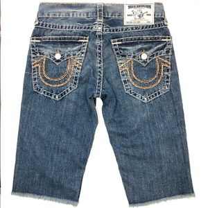 True Religion Cut Off Blue Jean Denim Shorts